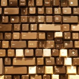 Die ausrangierten Tasten einer PC-Tastatur!