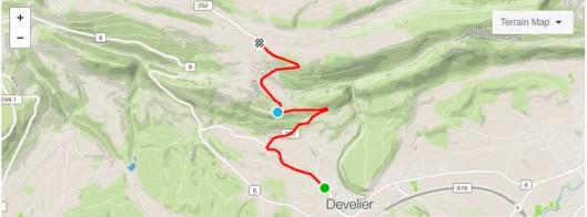 Route du Bourrignon climb